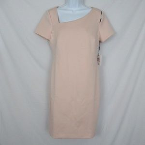 Calvin Klein Dresses - Calvin Klein Scuba Sheath Dress Blush